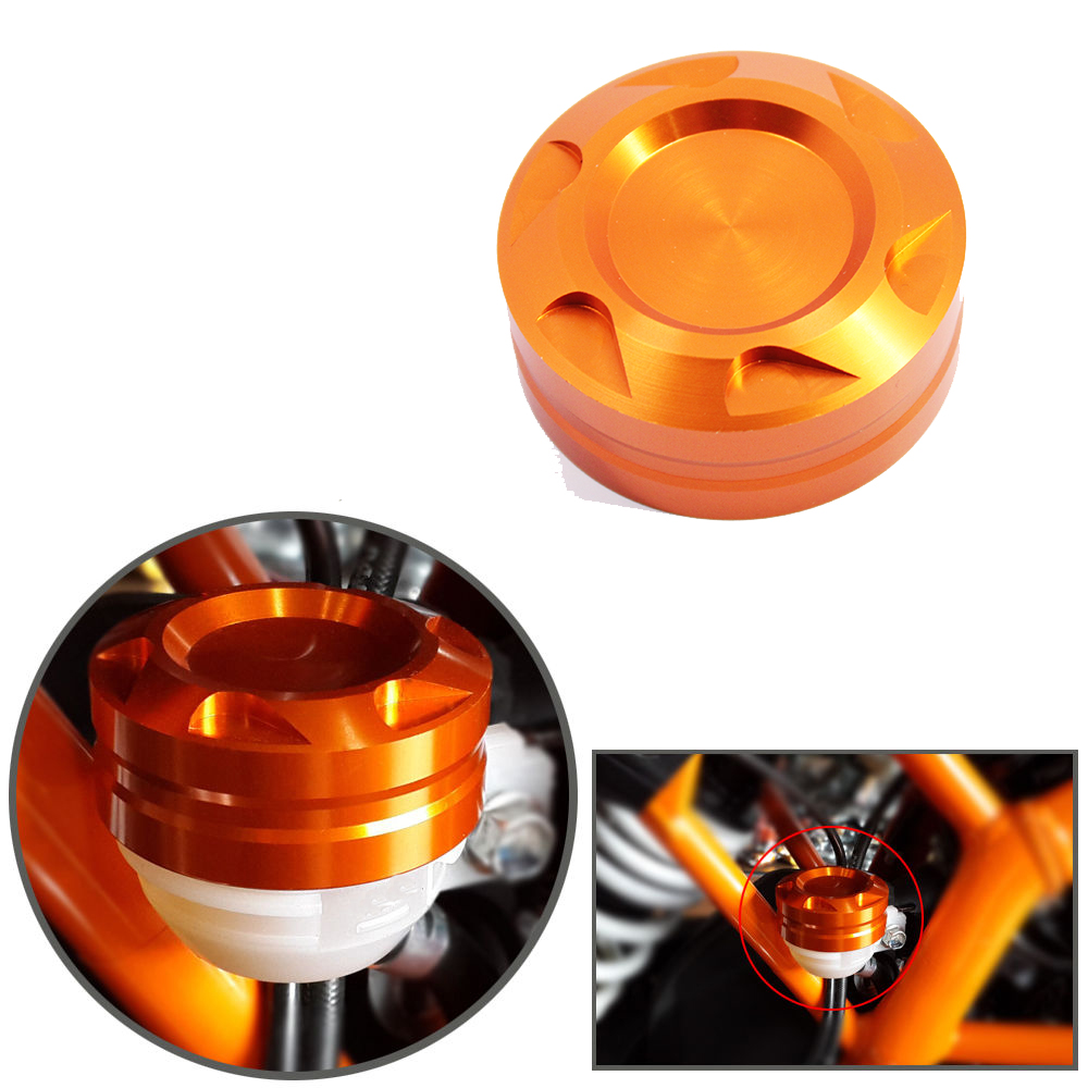 Motorcycle Aluminum CNC Engine Rear Fluid Reservoir Cap For KTM KTM DUKE 125 / 200 / 390 for ktm 390 duke motorcycle leather pillon rear passenger seat orange color