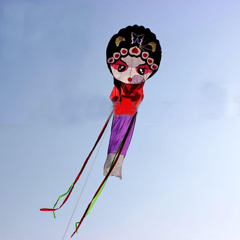 Livraison gratuite haute qualité 7m doux cerf-volant volant opéra fille cerf-volant ligne marche dans le ciel ripstop nylon aquilone kiteboard dragon