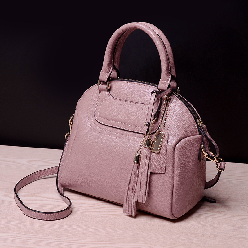 The New Europe and the United States single shoulder bag Genuine Cow Leather Women Messenger Bag Tassels handbag aetoo europe and the united states fashionable women s bag new leather ladies handbag large capacity diagonal shoulder bag