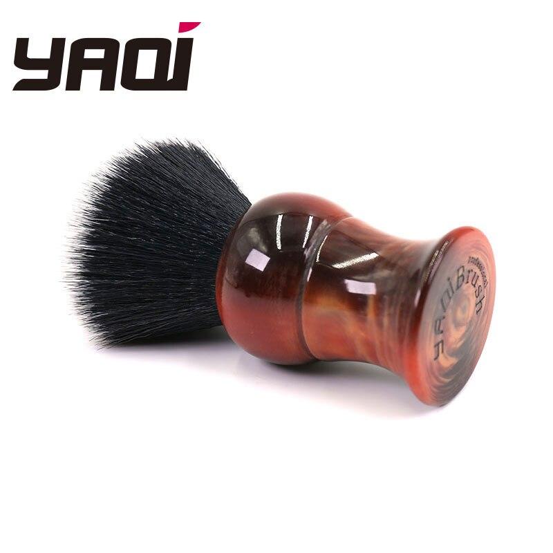 Купить с кэшбэком Yaqi Big Size 26mm men's Shaving Brush with Resin Handle Tuxedo Knot For Men