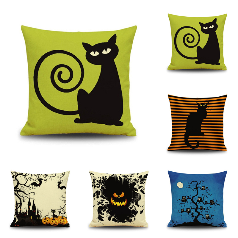 Stupendous Us 4 99 Halloween Cats Illustration Throw Pillow Cover Decorative Massager Pillows Case Zip Diy Home Decor Gift Inzonedesignstudio Interior Chair Design Inzonedesignstudiocom