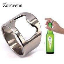 ZORCVENS Neue Ankunft Einzigartige Kreative Vielseitig Edelstahl Bier Flasche Opener Bar Werkzeug Ring für Männer