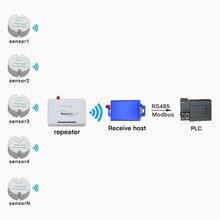 Modbus wireless temperatur sensor sender rs485 modbus protokoll lange bereich temperatur daten logger 433/868/915mhz