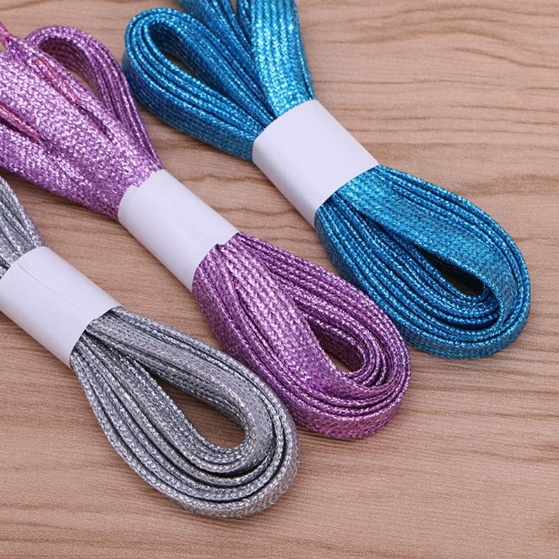 Fashion Hot Unisex Colorful Pearlite Shining Shoelace Shoe String Multi Color Shoelaces For Athletic Sneaker New Arrival