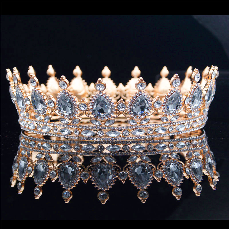 все цены на Ladies Queen King Bride Tiara Crown Headdress Crystal Diadem for Bridal Wedding Tiaras and Crowns Jewelry Hair Accessories