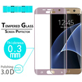 """Full Cover Tempered Glass film For Samsung Galaxy S7 Edge 5.5"""" 3D Curved Edge Front Screen Cover Protective Film + free shipping"""