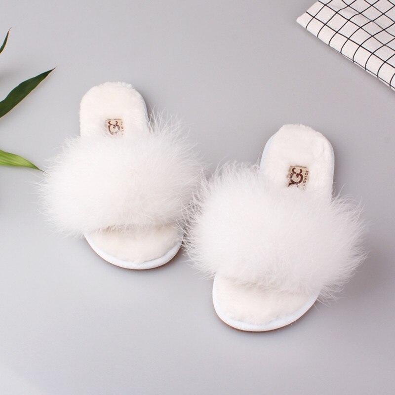 Женские домашние плюшевые тапочки с мехом, тапки для пола и спальни, обувь на плоской подошве, весна-лето