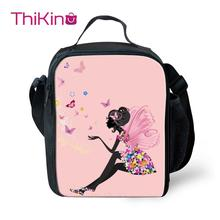 Thikin Butterfly Cooler Lunch Box School Portable Insulated Bag Tote PouchThermal Food Picnic Bags For Women Kids