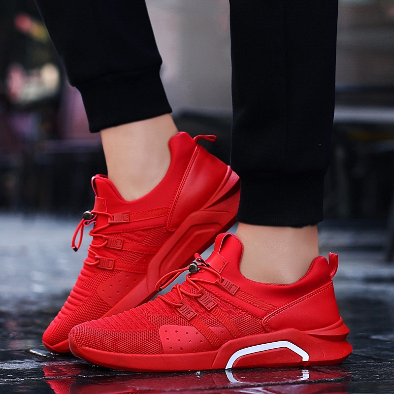 Pour Marques Pression rouge Tendance Mode Zapatillas Vogue Lumière Occasionnels Noir Respirante Confortable Chaussures Hommes Principale thsdrQ