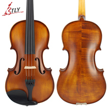TLY Nature Flamed Maple Acoustic Matte Violin Full Size Advanced Antique Violin 1/4,1/2,3/4,4/4 Ebony Parts w/ Case Bow Rosin