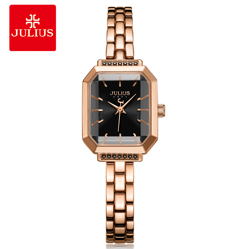 2018 New Relogio Feminino Luxury Crystal Watch Stainless Steel Band Bracelet Women Watches Julius Ladies Casual