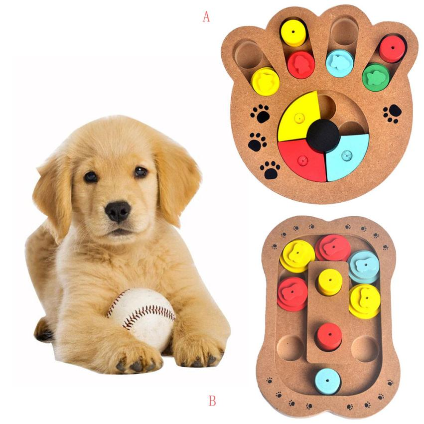 Transer High Quality Pet Dog Game Training Wooden IQ Interactive Toy Food Dispensing Puzzle Hide&Seek Dropshipping 18Apr20