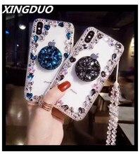XINGDUO Glitter Crystal shell for Huawei P30 PRO P20 Lite bling Luxury Rhinestone Case Diamond Balloon stent S10 S9 S8 Plus
