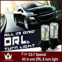 Free Shipment Larger Lens High Brightness Eagle Eye Daytime Running Light Driving Light 12V 35W For