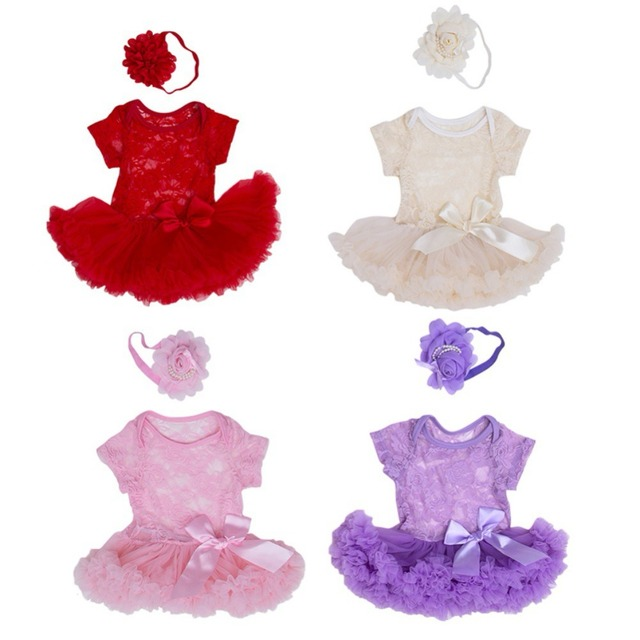 7e5fd0f6c16aa Baby Girl First 1st Birthday Party Tutu Dresses for Toddlers Vestidos  Infantil Princess Clothes 1 Year Girls Baptism Clothing-in Dresses from  Mother & ...