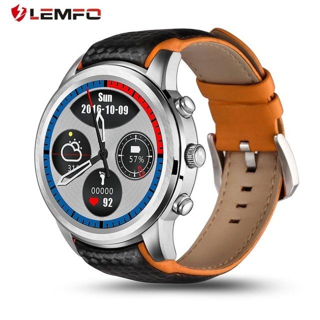 """Оригинальный Lemfo LEM5 Смарт-часы ОС Android 5.1 MTK6850 1.39 """"IPS OLED Экран Поддержка GPS Wi-Fi SmartWatch для Android IOS Телефон"""