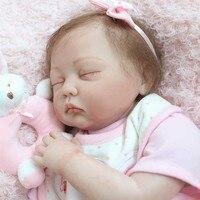 NPK 22 дюймов реалистичные Спящая кукла набор силиконовых Reborn новорожденный куклы для детей Playmat подарок S7JN
