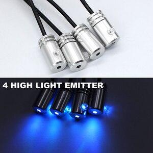 Image 3 - แถบ LED RGB LED Ambient Light APP ควบคุมบลูทูธสำหรับรถภายในบรรยากาศหลอดไฟ 8 สี DIY เพลง 4 M ไฟเบอร์ออปติก Band