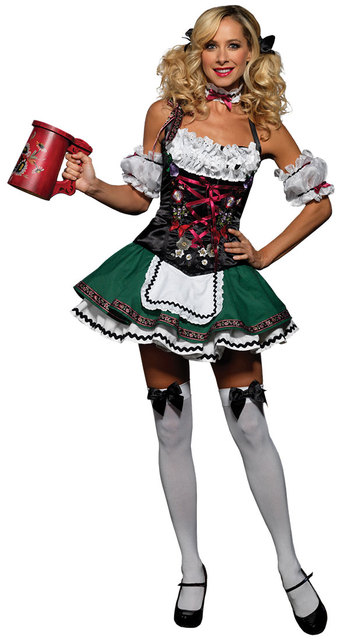 plus size new high quality 2016 deluxe german beer girl costume halloween fancy party dress sexy