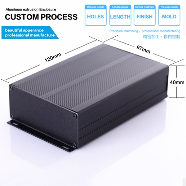 YGS-008 97*40*150mm Aluminum metal enclosure box body for electronic 4pcs a lot diy plastic enclosure for electronic handheld led junction box abs housing control box waterproof case 238 134 50mm
