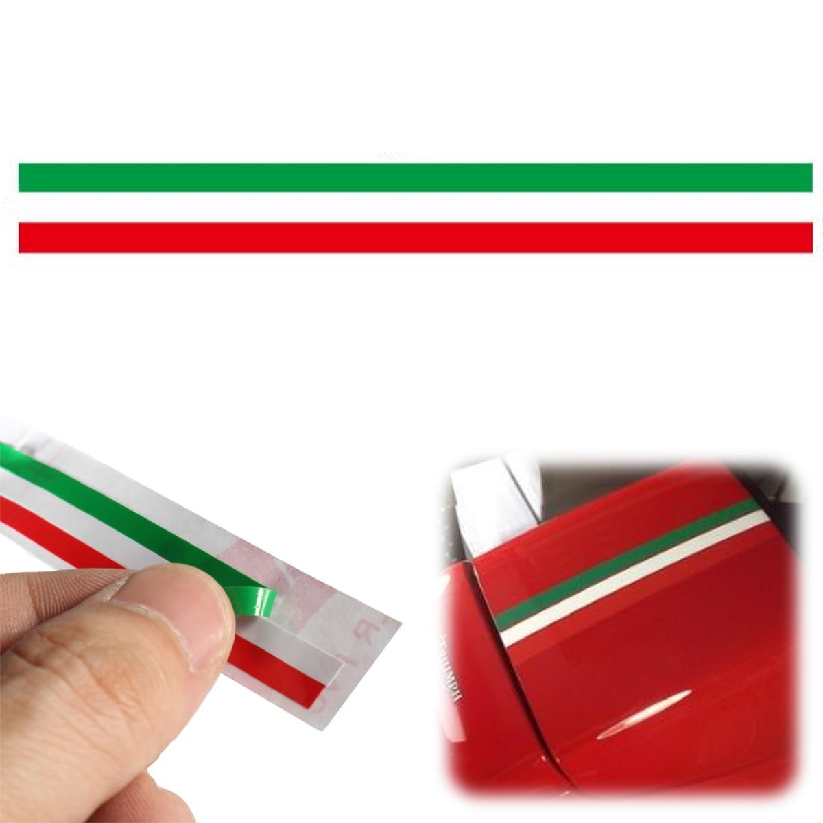 2 PACK ITALIAN ITALY FLAG REFLECTOR BADGE CAR TRUCK MOTORCYCLE ADHESIVE BACKED