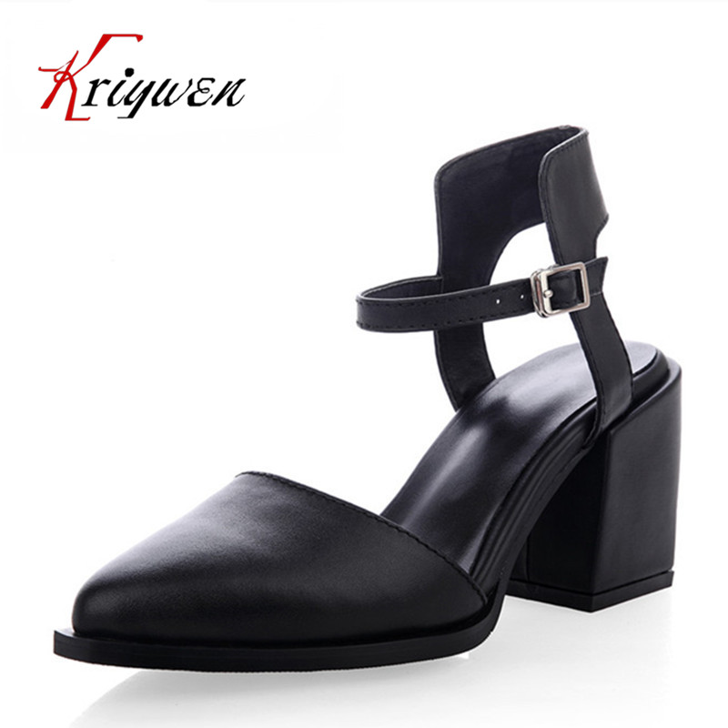 Fashion Design Women Full Grain Leather Pumps Summer ankle wrap Cool High Heels Shoes for Women closed toe Women Sandals fashion design women full grain leather pumps summer ankle wrap cool high heels shoes for women closed toe women sandals