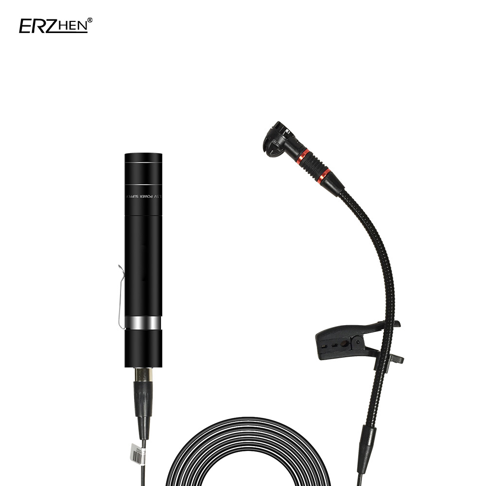 Mini Portable Wired Electret Condenser Microphone Lapel Lapel Microphone Musical Instrument Guitar Violin Saxo Trumpet