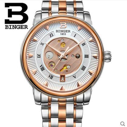 Gneva 2017 New Arrival Fashion&Casual Automatic Mechanical Binger Watch Men Steel Band Luxury Relogio Masculino Watches