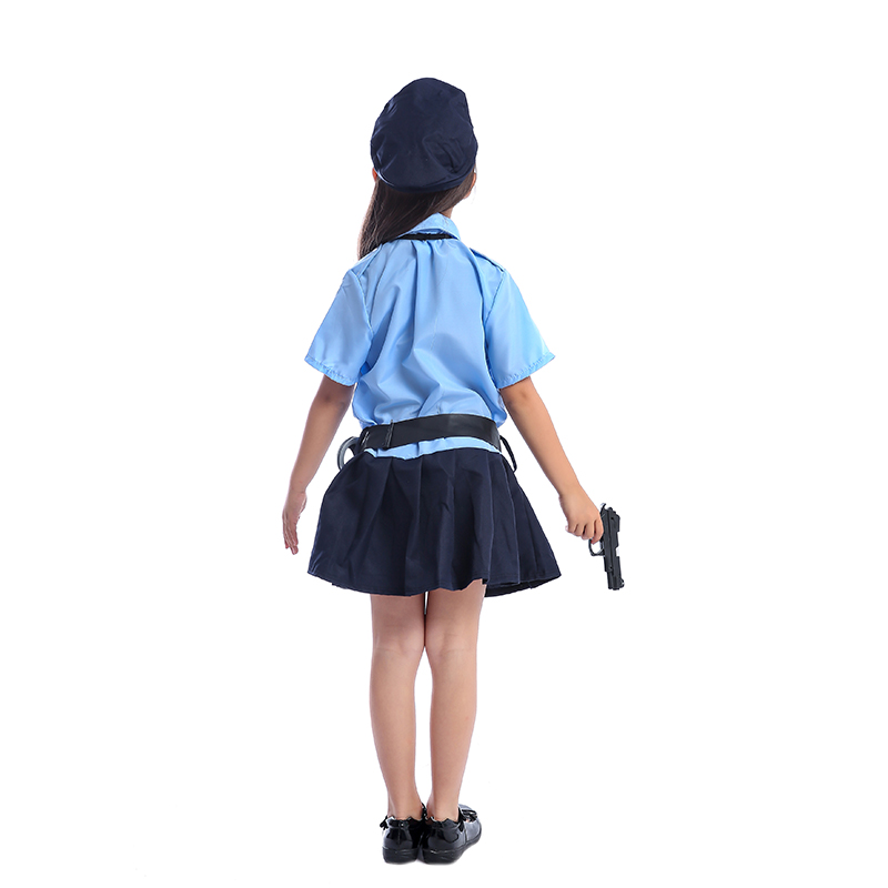 Image 5 - Cute Girls Tiny Cop Police Officer Playtime Cosplay Uniform Kids Coolest Halloween Costume-in Girls Costumes from Novelty & Special Use