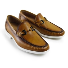2017 Italy Men Flat Vintage Retro Custom Mens Loafer Shoes Luxury Casual Fashion Dress Party Genuine Leather Original Design