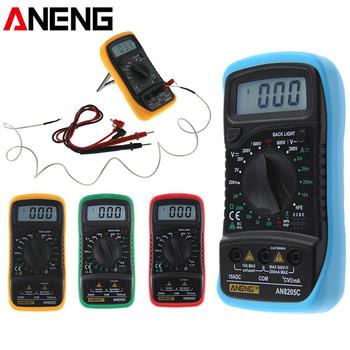 ANENG AN8205C termometr cyfrowy multimetr woltomierz amperomierz AC DC multimetr do pomiaru napięcia i rezystancji Test wskaźnik temperatury narzędzie tanie i dobre opinie Elektryczne Digital Display 2m - 20m - 200m - 10A + 1 8 As Shown 200mV - 2-20-2000-600v plus or minus 0 5 200V - 600V plus or minus 1 0