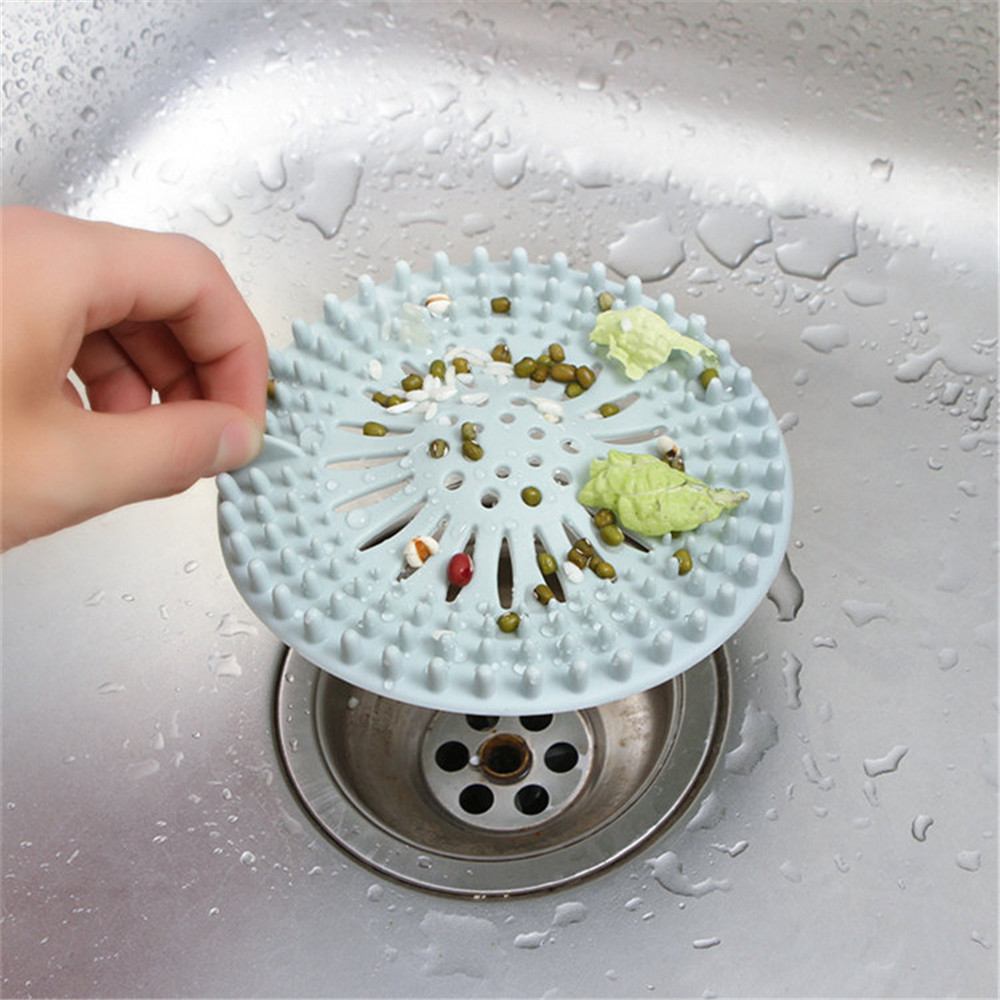 Kitchen Sink Strainer Bathroom Drain Covers Hair Catcher Hair Stopper Rubber Sink Strainer Drain Cover Kitchen Accessories A20