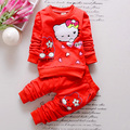 2016 New baby girl clothing set 2pcs girls clothing clothing set girls t shirt kids pants suit set