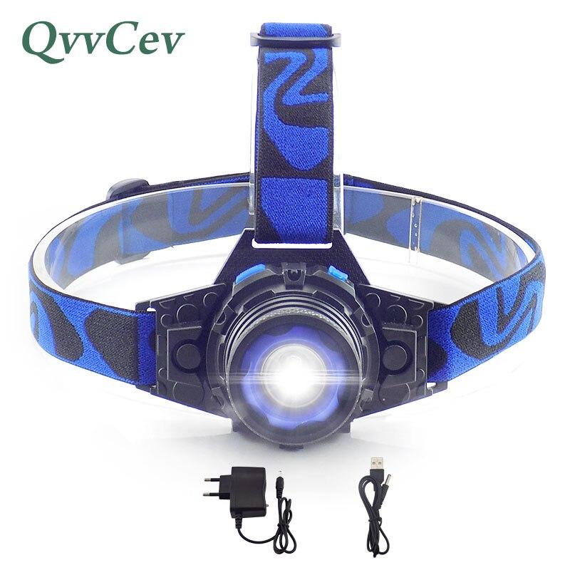 Impermeable faro batería de litio recargable incorporada Q5 Head light led antorcha 3 modos linterna para acampar