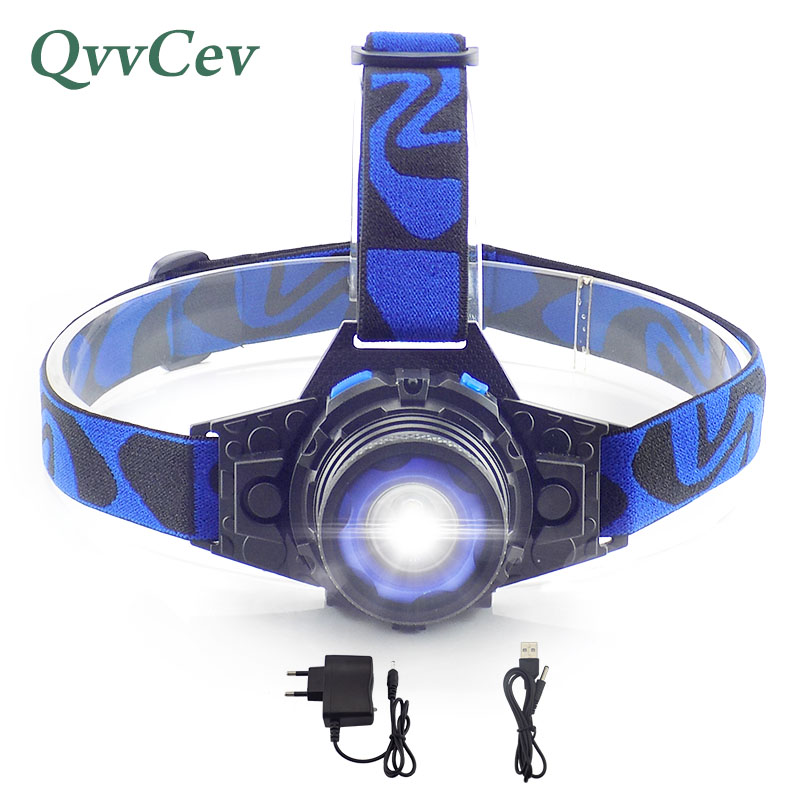 Waterproof Headlight Built-in Lithium Battery Headlamp Rechargeable Q5 LED Head light Torch 3 Modes flashlight For Camping