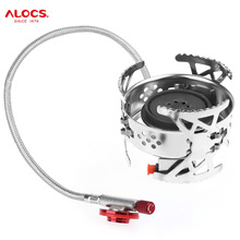 ALOCS 3100W Outdoor Gas Stove Burner With Electronic Ignition Portable For Camping Cooking Picnic BBQ Foldable Gas Torch