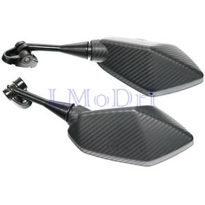 Image 3 - LMoDri Motorcycle Mirrors Racing Sport Bike Rear View Mirror For Honda CBR F4 F4i/RC51/ RVT1000 DD250E/300/350 HYOSUNG GT Carbon