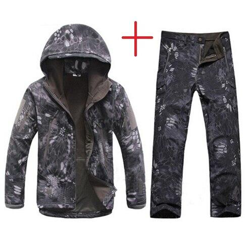 New Lurker Shark Skin V 4.0 Military Tactical Softshell Jacket Men Windbreaker Waterproof Hoodie Clothes Pythons Grain Camo Suit