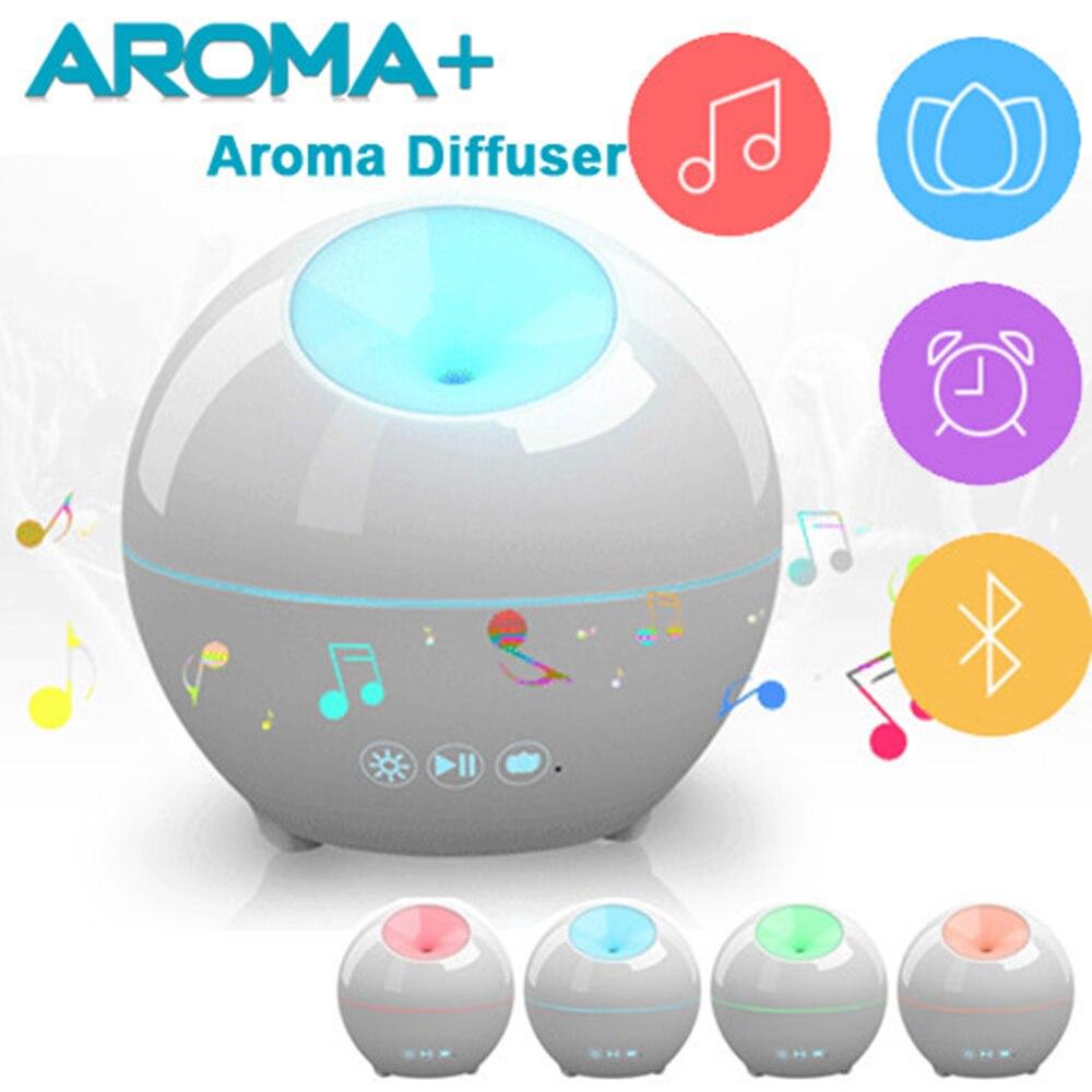 2017 neueste smart aroma luftbefeuchter mit musik lautsprecher und led licht wecker. Black Bedroom Furniture Sets. Home Design Ideas