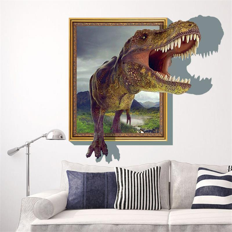jurassic park designs wall stickers 3d cartoon movie dinosaur