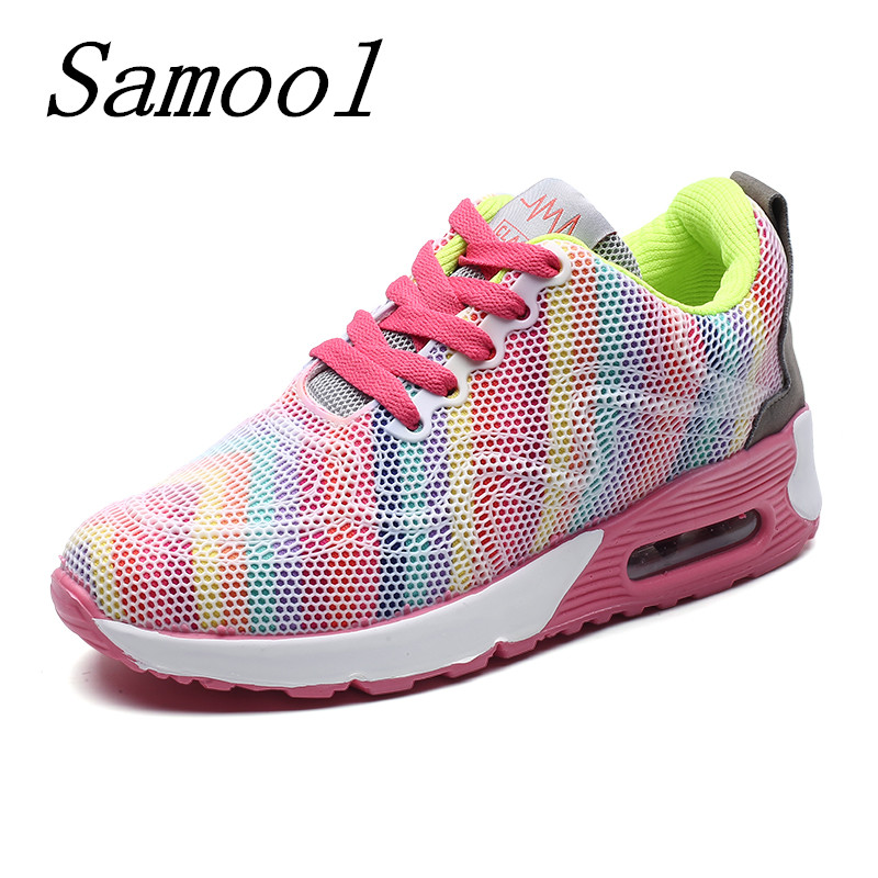 Hot Sale Causal shoes woman Mesh cushion Walking shoes for women Outdoor Spring Summer Breathable Sneakers chaussure femme jx4 2016 women athletic running shoes for women breathable mesh sport shoes sneakers woman walking shoes zapatillas mujer