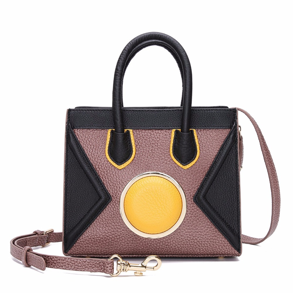 2017 Women Handbags Lady Genuine Leather Panelled Flap Woman Business Handbag Messenger Bags Casual Tote Smiling Face Party Bag 2016 casual woman cowhide bag summer designer handbags fashion genuine leather chain lady handbag flap shoulder messenger bags