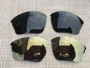 copper & black  Polarized Replacement Lenses for Half Jacket XLJ Sunglasses Lens Only-2 Pairs