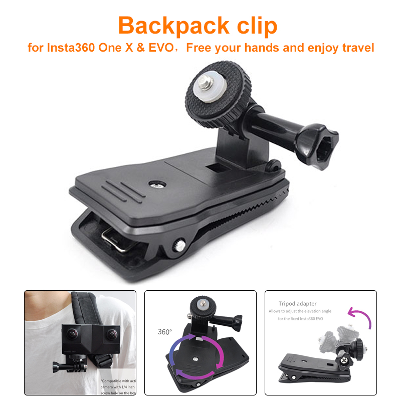 Backpack Mount For Insta360 ONE X & EVO Action Camera Expand Accessories Backpack Clip Kit For Insta360 One X & EVO