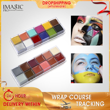 IMAGIC 12 Colors Flash Tattoo Face Body Paint Oil Painting Art Halloween Party Fancy Dress Beauty Makeup Tools все цены