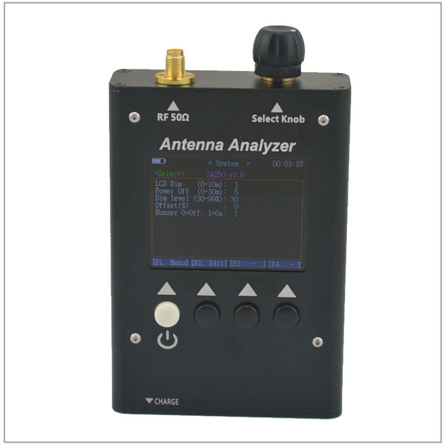 SURECOM SA-250 SA250 132-173/200-260/400-519 MHz Antena Analizador analizador Gráficos de Color de antena