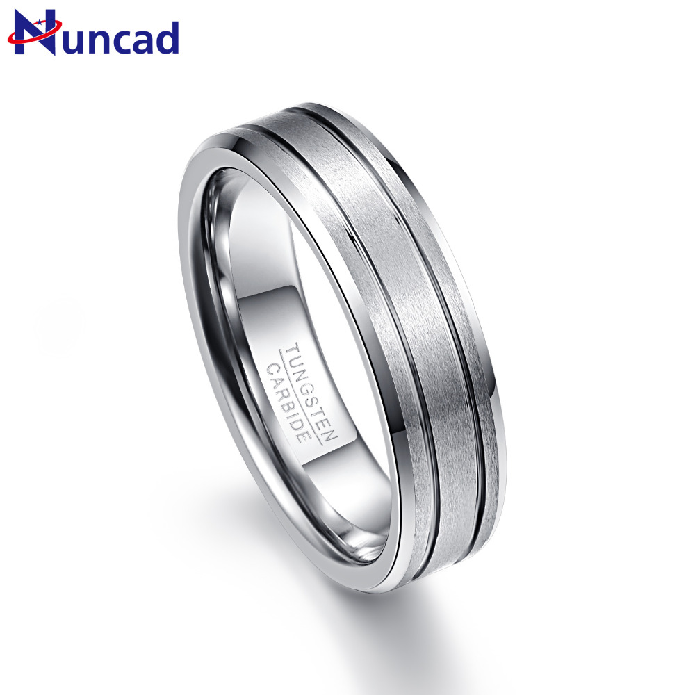 Nuncad Men's 6mm Two Grooves Matte Finish Beveled Edge Tungsten Wedding Bands Size 7 To 12in From Jewelry Accessories On Aliexpress: Beveled Edge Matte Wedding Ring At Reisefeber.org