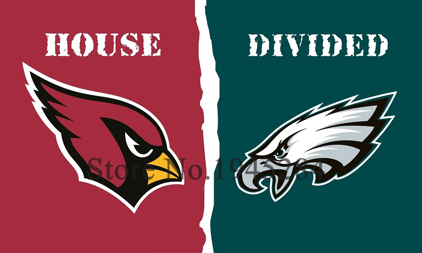 NFL Arizona Cardinals Philadelphia Eagles House Divided Flag 3x5ft 150x90cm Polyester Flag Banner, free shipping
