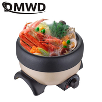 DMWD Electric Hot Pot 1L Multifunction Non stick Cooking Pan Frying Grill Heating Skillet Soup Noodles Rice Cooker Food Steamer