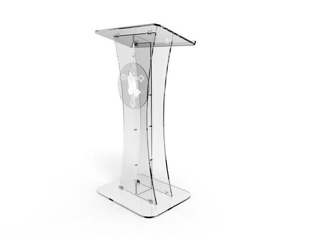 Fixação Exibe Plexiglass Púlpito Da Igreja de Acrílico Pódio Púlpito Claro Com Pray Mão decor
